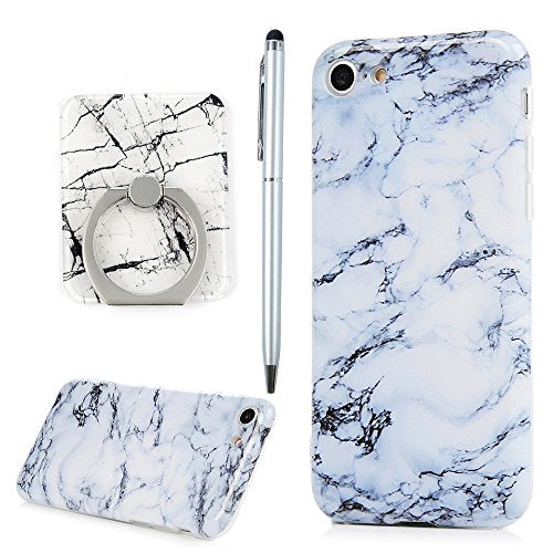 new styles ad234 d6812 iPhone 7 Case, iPhone 8 Case, YOKIRIN Black Purple Marble Design Clear  Bumper Flexible TPU Soft Rubber Silicone Shock Proof Anti-Finger Cover &  360° ...