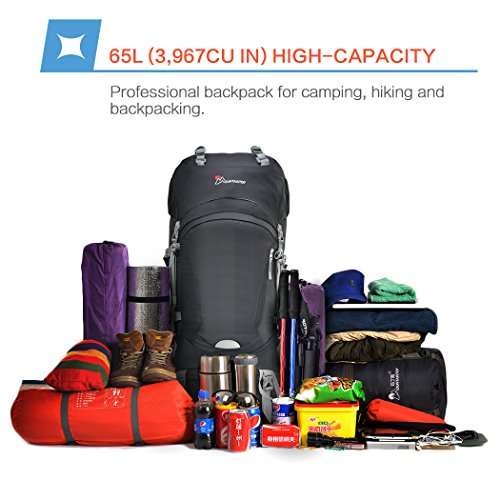 9cb0c5cd7f Mountaintop 65L Outdoor Hiking Backpack Camping Backpack Internal Frame Bag