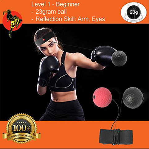 Boxing Reflex Ball – Boxer Ball To Improve Speed With Reaction Training - Boxing Gym Equipment For Training & Fitness - Portable & Lightweight Perfect for Men & Women – 2 Balls Included