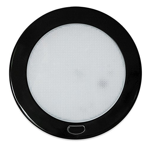 "Dream Lighting 12Volt LED Panel Light with Switch - 5"" Black Shell Ceiling Downlight - Warm White Panel Downlight for Kitchen, Roof, Cabinet and Cabin"