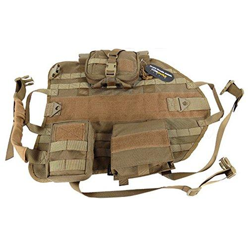 cac51dddb5e OneTigris Tactical Dog Molle Vest Harness Training Dog Vest with Detachable  Pouches (Tan