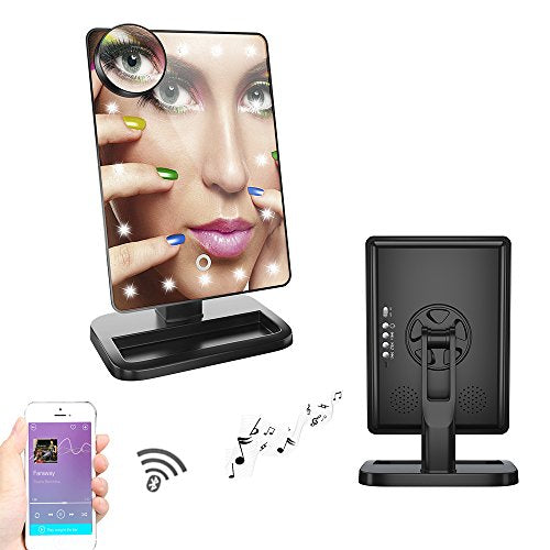 Fenchilin Led Bluetooth Speaker Makeup Mirror With Touch Screen And