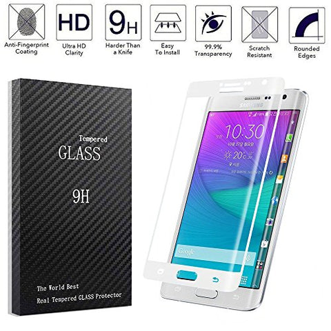 Dogxiong White Full Cover Connect Curve Edge Anti-scratch Inner concave Desgin Glass Screen Without Gap Tempered Glass Protectors Guard Film For Samsung Galaxy Note Edge N915