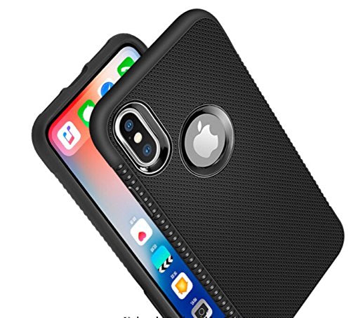 new photos ae544 aa77f EDIVIA iPhone X Case Black Silicone, TPU Gel Leather Back Effect Auto Focus  Case Cover for Apple iPhone X, Lightweight Protective iPhone X tpu cover -  ...