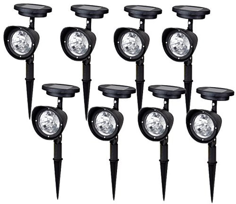 TMS 8pcs~4-led Solar Spot Light Outdoor Garden Lawn Landscape LED Spotlight Path Lamps …