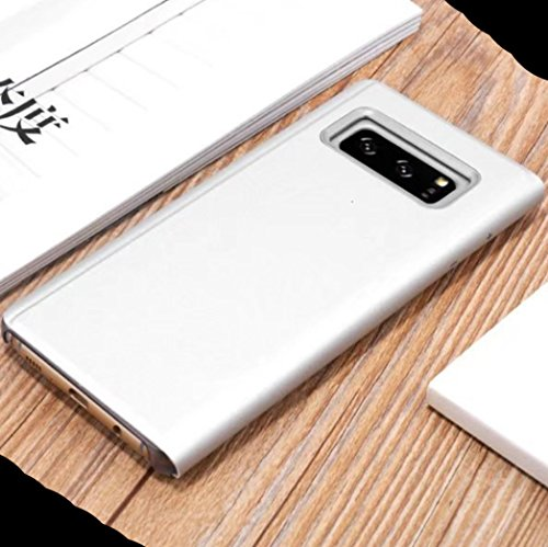Huawei P10 Shell, Perspective Window View Free Flip Reflective Make-Up  Plated Mirror Cover, WEIFA Smart Awake Sleep Phone Case For Huawei P10,  Scan QR