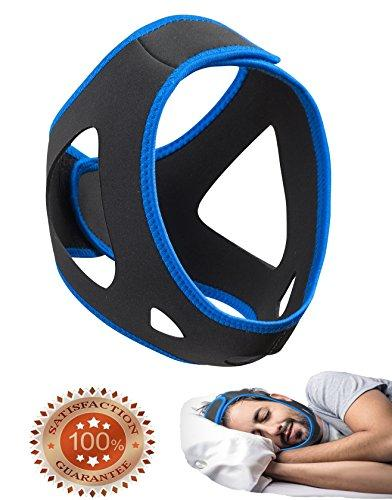 Anti-Snoring Chin Strap & Jaw Support Belt - Natural Sleep,Instant Relief -  Adjustable Velcro - Non-Sliding Off - Comfortable,Breathable Fabric - Stop