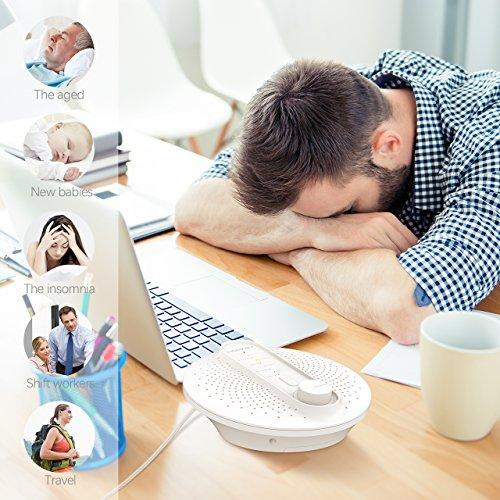 Homasy White Noise Machine, 24 Soothing Sleep Therapy Sound Machine with  Playing All Night or Other Timer Option for Baby  Portable with 3 Time