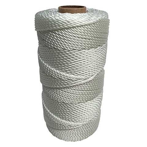SGT KNOTS Twisted Nylon Seine Twine #36 100% Nylon Fiber- High Tensile Strength & Versatile Utility Twine - Crafting, Camping, Boating, Mason Line, Fishing, Hunting, Survival, Marine (541 ft)