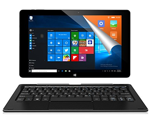 ALLDOCUBE iwork10 Pro 2-in-1 Tablet PC with Keyboard, 10 1 inch 1920x1200  IPS Screen, Windows 10 + Android 5 1, Intel Atom X5 Z8350 Quad Core, 4GB