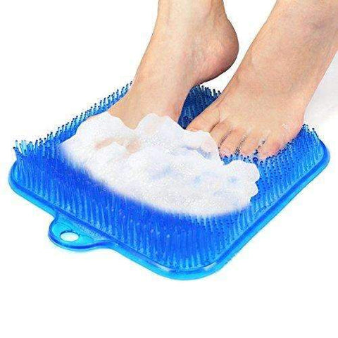 Codream Shower Foot Scrubber Brush Mat Acupressure Massager with Suction Cups Best Handsfree Massaging Foot Cleaner Sole Scrubber without Reaching or Bending Blue