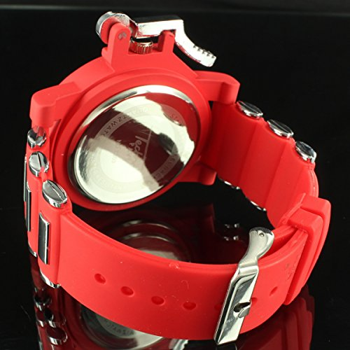 Men Epic Techno Master DJ King Bold Red Da Bomb Grenade Style Face Watch  Ice New