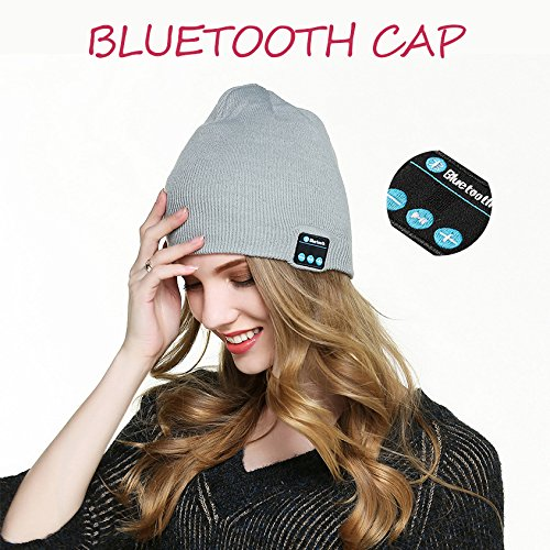 250663115a7ef BALANSOHO Bluetooth Beanie Hat Wireless Musical Knit Cap Washable with  Stereo Speakers   Mic Fit For