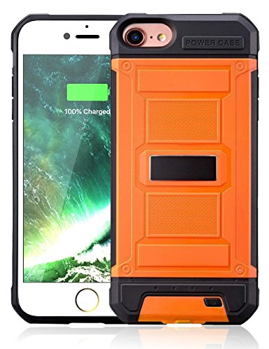 "iPhone 7 / 8 Battery Case,Dawnpower 3000mAh Ultra Slim Extended Portable Rechargeable Charger Case for iPhone 8 / 7 / 6 / 6S 4.7 inch (4.7""- Orange)"