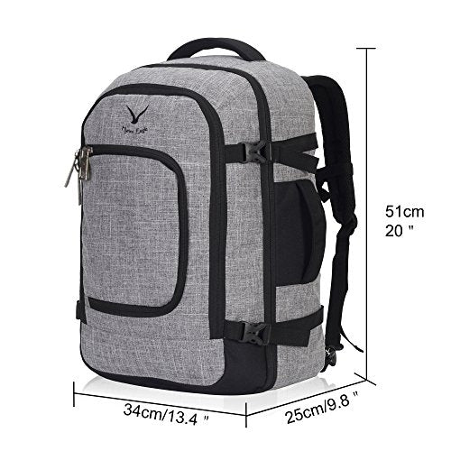 453953ea1 Hynes Eagle Travel Backpack 40L Flight Approved Carry on Backpack, Light  Grey with 3PCS Packing