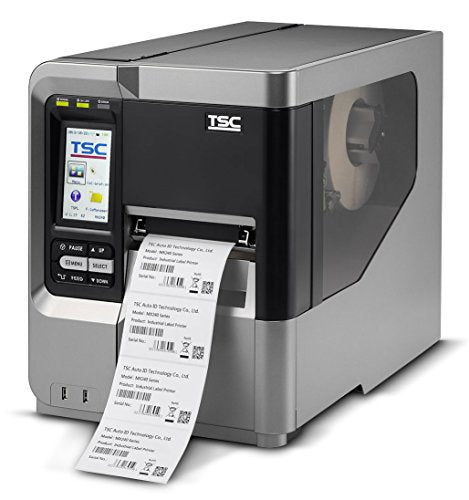 TSC 99-051A002-00LF Series MX240 Industrial Thermal Transfer Bar Code Printer, 300 dpi Resolution, Color LCD Touch Display, 256 MB SRAM, 128 MB Flash SD Card Slot, Ethernet/USB/RS-232 Port