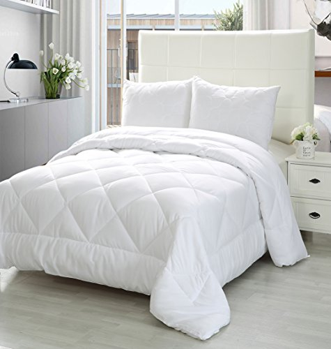 Utopia Bedding King Comforter Duvet Insert White - Quilted Comforter with Corner Tabs - Plush Siliconized Fiberfill, Box Stitched Down Alternative Comforter, Machine Washable - by