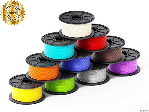 3D Pen Filament: 1.75mm, Safe for Kids, Great Quality, High-Precision, Odorless, Compatible with all 3D Pens, 3D Pens/3D Printers, Refill Pack of 15 Vibrant Colors, 10 Feet Each, 70 FREE Stencils