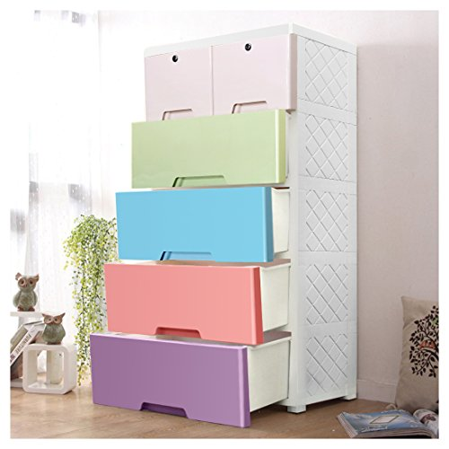 YUTING Portable Plastic Clothes Closet Wardrobe Storage Organizer, Quick and Easy to Assemble, Extra Strong and Durable For Home, Office, Nursery, Closet, Bedroom, Living Room