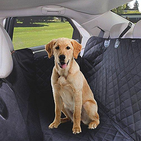 AGOOL Dog Seat Car Cover Seat Cover for Pet Pets Hammock Style Waterproof Scratch-proof 600D Heavy Duty Washable Soft Back Nonslip Perfect for Cars SUVs and Trucks
