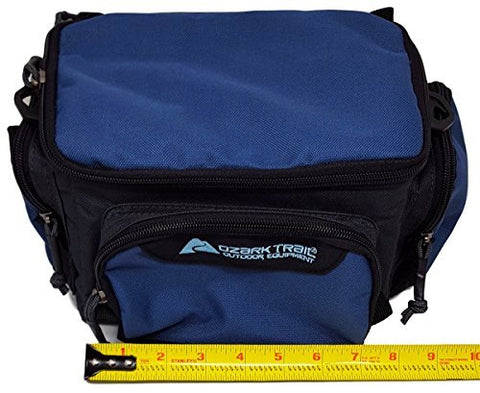 Ozark Trail Blue Soft-Sided Fishing Tackle Storage Bag with 3 Utility Boxes 11x7x6.25""