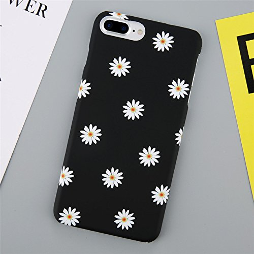 the best attitude 31ed1 b8e72 AM Black White Daisy Flowers Print iPhone 8 Case, Cute Garden Flower Theme  iPhone 8 Cover Lovely Floral Pattern Girls Women Hippie Design Snap On ...