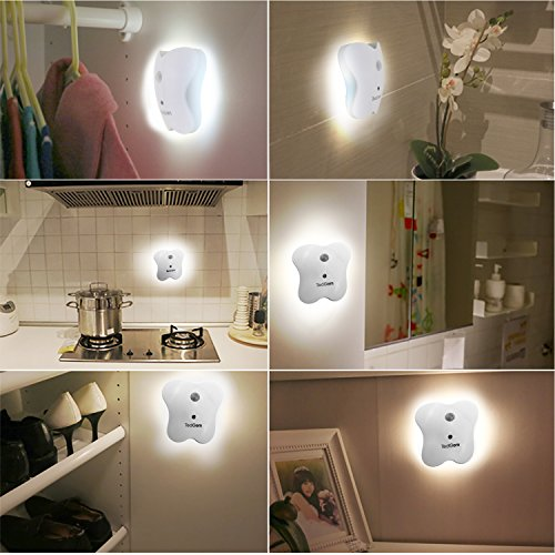 TedGem Motion-Activated LED Night Light, Wireless Battery-Powered LED Light, Auto On/Off Magnet Stick-Anywhere Night Light - 1 Pack