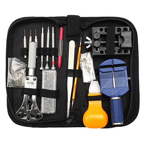 Watch Tool, Baban 144 Pcs Watch Repair Kit Professional Spring Bar Tool Set Watch Band Link Pin Tools Set Watch Band Remover, Watchmaker's Maintenance Service Manual with Carrying Case