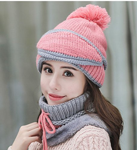 9649f05af6d Womens Beanie Hat Scarf Mask 3 In 1 Set