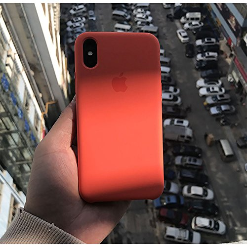 newest 7efbd 9028f iPhone X Silicone Case, Elf digital Liquid Silicone Gel Rubber Shockproof  Case and Ultra Soft Microfiber Cloth Lining Cushion for iPhone X/10 (Spicy  ...