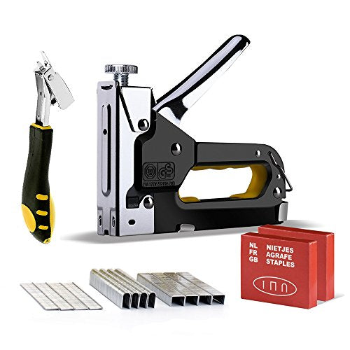 3 In 1 Heavy Duty Staple Gun Kit With Remover Brad Nail Gun Hand