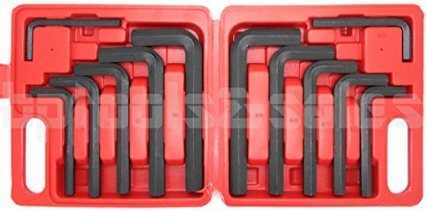 SKEMiDEX---12 Pc JUMBO METRIC SAE Hex Keys Set Allen Wrenches MM Standard Large Tools. Drop forged, heat treated steel construction. Comeplete with handy plastic organizer clip