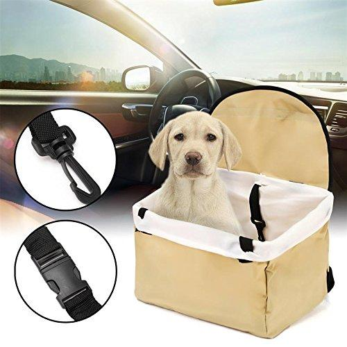 Pet Dogs Booster Car Seat Auto Outdoors Basket Sheepskin Kennel Dog Cat Nest Travel Puppy Protection