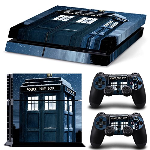 Hambur®Ps4 Console Designer Protective Vinyl Skin Decal Cover for Sony Playstation 4 & Remote Dualshock 4 Wireless Controller Stickers - ps4 skin Doctor Who