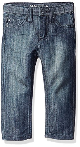 Nautica Boys' 5-Pocket Skinny Fit Denim Jean, Merchant, 24 Months