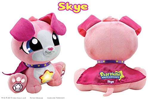 Starshine Watchdogs SKYE Talking Stuffed Animal Bedtime Toy with Remote Control Night Lights, Soothing Phrases and Children's Book. Plus FREE Coloring ...