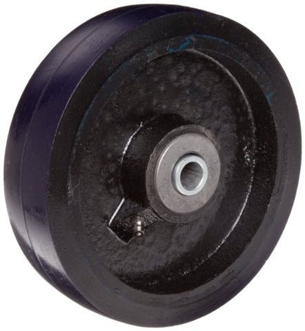 "RWM Casters UIR-0615-08 6"" Diameter X 1-1/2"" Width Urethane on Iron Wheel with Straight Roller Bearing, 840 lbs Capacity"