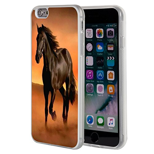 iPhone 6s Plus case,iPhone 6 Plus Case,AIRWEE Clear Bumper Brown Horse Pattern Anti-Scratch Slim Soft TPU Back Protective Cover Case for iPhone 6/6S Plus 5.5 inch