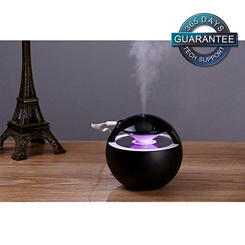 WitMoving Humidifiers Cool Mist Humidifier Ultrasonic Quiet Home & Travel USB Small Humidifier with 7-Color LED Night Light and 450mL Water Capacity Mist Humidifiers for Baby Kids Women Bedroom Office