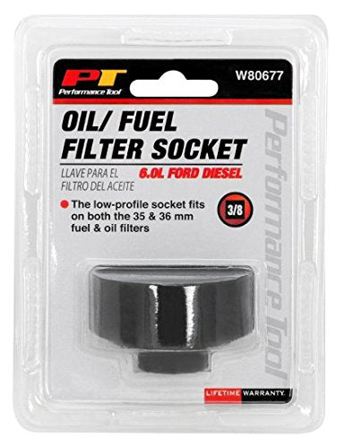 Performance Tool W80677 6.0 Liter Ford Diesel Oil & Fuel Filter Socket (36mm fuel and oil filters) by Performance Tool