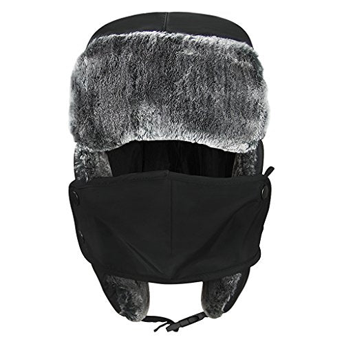 eb32d80523213 Unisex Kids Teens Girls Boys Faux Fur Winter Warm Trapper Hat with Ear Flaps