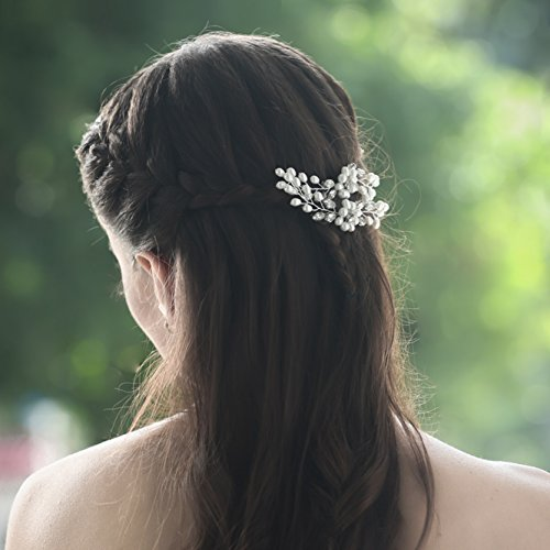 4fa4b80965d7 Unicra Wedding Hair Pin Decorative Bridal Hair Accessories for Brides and  Bridesmaids Pack of 2 Silver