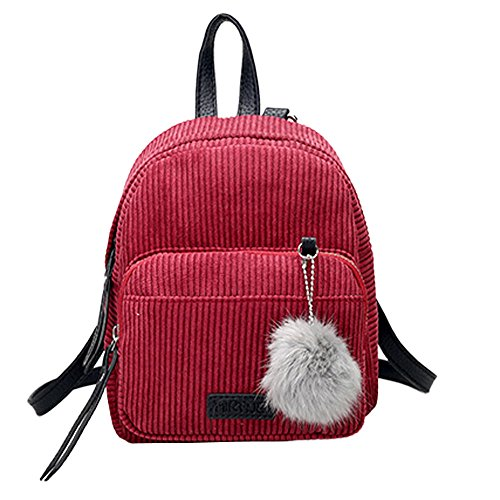 dd880df10e ZYUPUP Women Corduroy Backpacks Casual Rucksack Travel Daypack Schoolbags (one  size