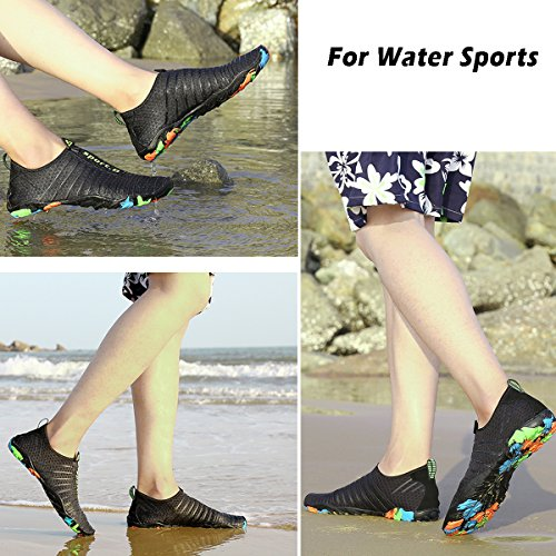 c3ad942f784a Voovix Mens Womens Water Shoes Kids Barefoot Aqua Shoes Quick Drying Water  Sandals for Beach Swim