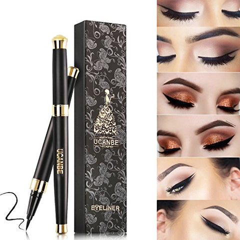 Ucanbe Waterproof Liquid Eye Liner Pen Long Lasting Eyeliner, Black, 0.035 fl. Oz.