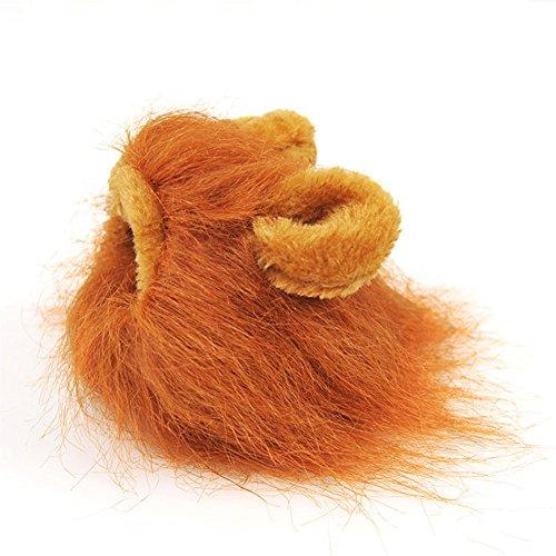 0a2d7290a BUYITNOW Pet Hat Lion Mane Wig with Ears for Dogs and Cats Fancy Party  Halloween Cosplay
