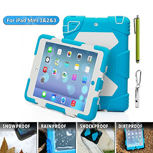 on sale 8a5b7 87861 IPad Mini Case, IPad Mini 2 Case, IPad Mini 3 Case, Aceguarder Rugged  Shockproof Kids Proof Protective Case Cover with Stand and Screen Protector  For ...