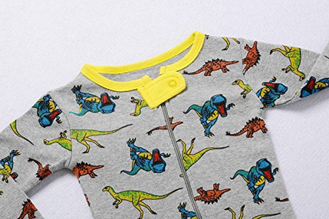 "Babyroom Baby boys footed ""Dinosaur"" pajamas sleeper 100% cotton size 4T"