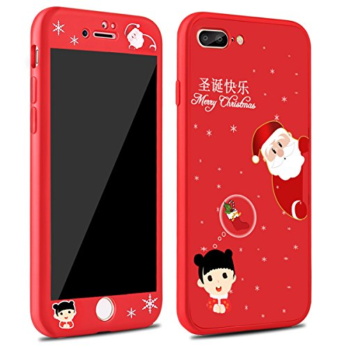 iphone 7 plus caseiphone 8 plus caseluzaizai christmas series case with full