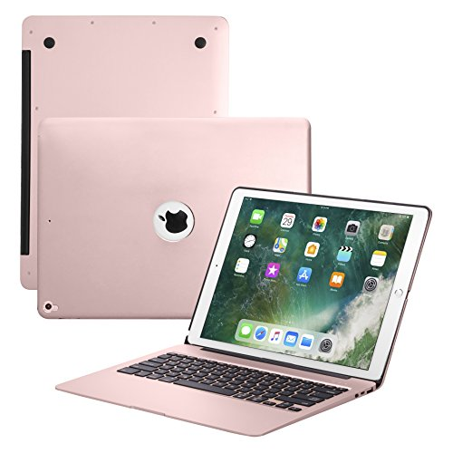 iPad Pro 12 9 Keyboard Case,7 Colors Backlight Slim Aluminum Wireless  Keyboard with Protective Translucent Silicone Keyboard Cover and 5600 mAh  Power